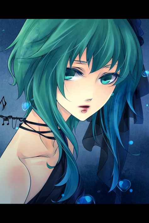 Anime Hair Color Hair Color Mostly Sea Green But Fades To Teal Then Fresh Water Blue Anime Hair Color Green Hair Girl Anime Blue Hair