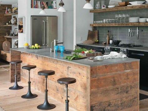 Bon 1 Kitchenette Leroy Merlin  De Style Rustique Ilot De Cuisine En Bois Clair Meubles Rustiques