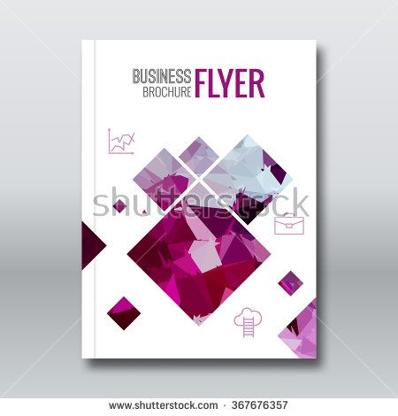 Cover colorful triangle geometric business design background, cover