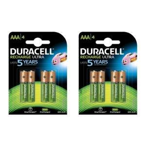 Duracell Ultra Rechargeable Aaa 8 Pack 900mah Duracell Recharge Nimh