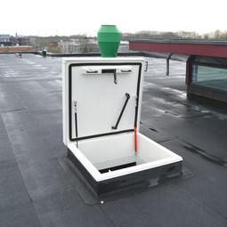 The Staka Roof Access Hatch With Ladder Is Used In Many Premises With Flat Roofs High Quality Tuv Great Service Quote W Roof Access Hatch Roof Hatch Ladder