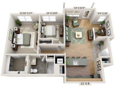 2 Bedroom House Plans Designs 3d Luxury Apartment Floor Plans Floor Plan Design Apartment Floor Plan