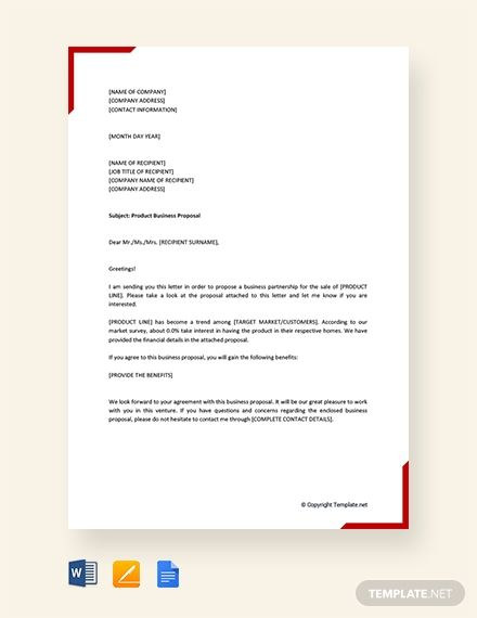 Free Business Proposal Letter For Service Template Download 1875 Letters In Word Apple Pages Goo Proposal Letter Business Proposal Letter Business Proposal