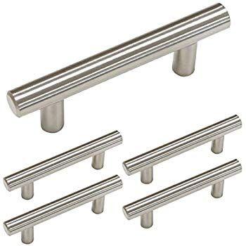 Homdiy Brushed Nickel Cabinet Handles 5 Pack 3 In Hole Center Cabinet Pulls In 2020 Brushed Nickel Drawer Pulls Cabinet Hardware Brushed Nickel Kitchen Drawer Handles