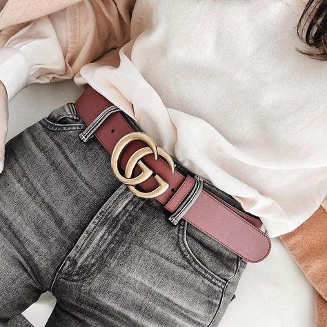 3053cd273 Tendência Cinto Gucci Double G | wish list | Fashion, Designer belts ...