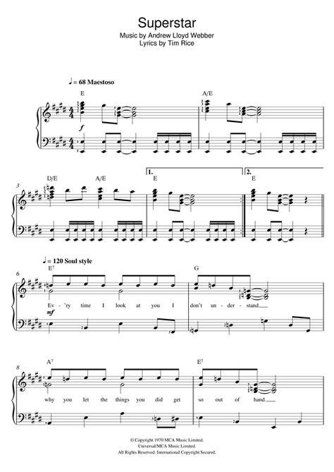 Andrew Lloyd Webber: Jesus Christ, Superstar - Partition Piano Voix - Plus de 70.000 partitions à imprimer !