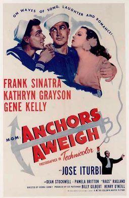 Frank Sinatra, Kathyrn Grayson & Gene Kelly - Anchors Aweigh, 1945