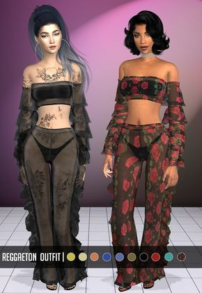 """vittleruniverse: """" Reggaeton Outfit Inspired by Leigh Anne Pinnock Sims 4 Cas, My Sims, Sims Cc, Sims 4 Mods Clothes, Sims 4 Clothing, Sims 4 Black Hair, Sims 4 Characters, Free Characters, Sims 4 Game Mods"""