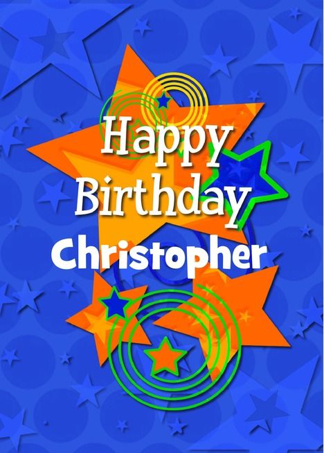 Happy Birthday Personalize Name For Boy Colorful Stars And Swirls Card Ad Sponsored Per Happy Birthday Grandson Happy Birthday Son Happy Birthday Brother