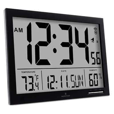 Top 12 Best Digital Wall Clocks In 2019 Atomic Wall Clock Wall Clock With Temperature Digital Wall