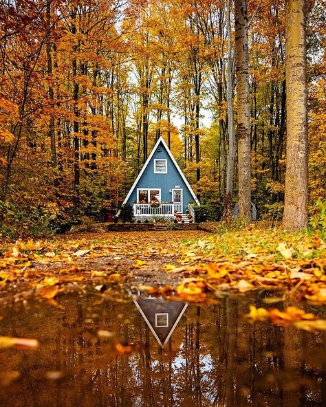 Gefllt Mal, 40 Kommentare - The Cabin Chronicles (thecabinchronicles) auf / .These Hues // I love my tiny A. Ive had apartments bigger than my house, but I love where A Frame Cabin, A Frame House, Cabin Homes, Log Homes, Harbor Springs Michigan, Future House, My House, Tiny House Living, Cabin In The Woods