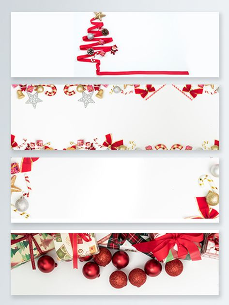 Christmas Red Decoration Jewelry Banner Background Psd Ribbon Xmas