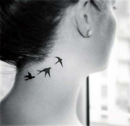 55 Ideas Tattoo Minimalistas Mujer Cuello Bird Tattoo Neck Neck Tattoo Neck Tattoos Women