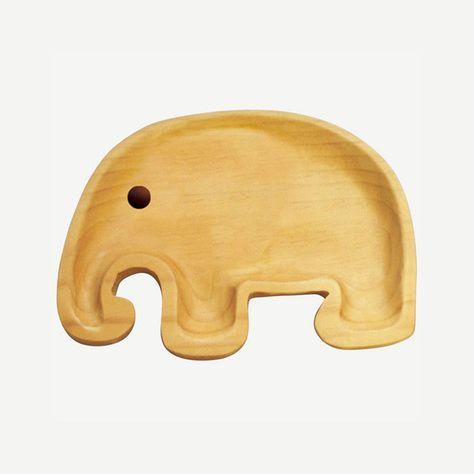 Kids Wooden Plate - elephant