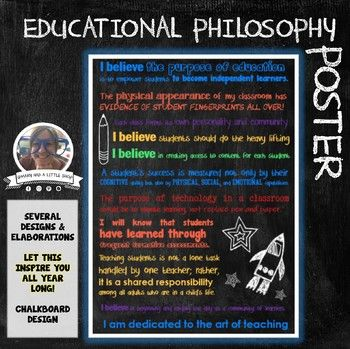 Educational Philosophy Statement And Poster Pin It Up Near Your Desk As A Reminder Of Philosophy Of Education Teaching Philosophy Teaching Philosophy Examples