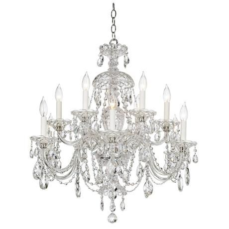 Candelabra 6 light Chandelier Crystal Table Lamp, Candelabra Centerpiece, Dining Room, Mantle, Bedroom Lamp: More sizes available