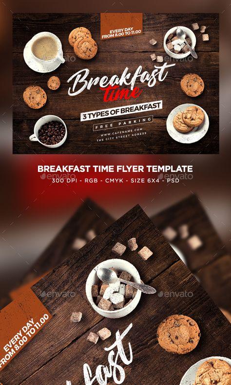 Breakfast Time Flyer Template Psd Download Design Flyertemplates