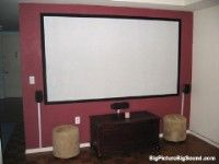 This is a blog for a cheap way to make projector paint...you paint it on the wall and get a projector watch HD tv on the wall...bigger screen...for the lala room or the living room :D