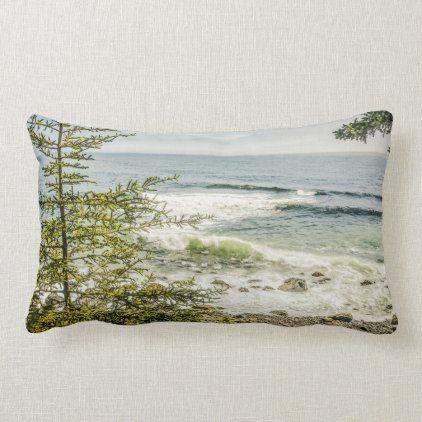 Maine Coast Acadia Ocean Rocky Beach Lumbar Pillow Zazzle Com Maine Coast Lumbar Pillow Beach Style