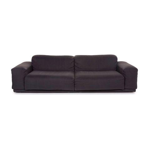 Vitra Jasper Morrison Stoff Sofa Grau Anthrazit Dreisitzer Couch