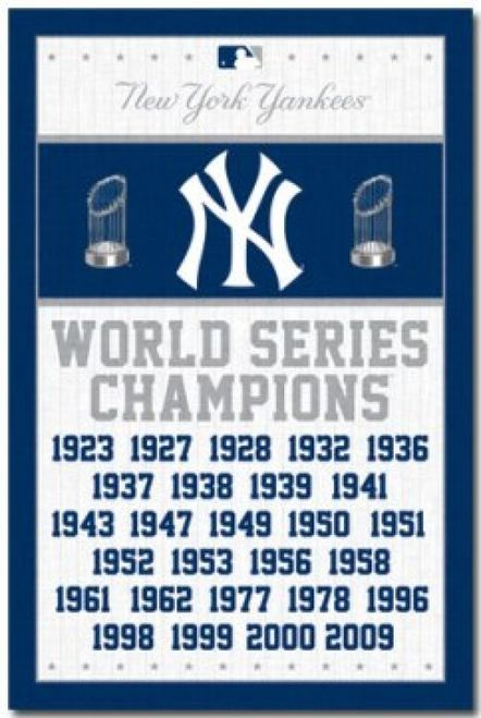New York Yankees Champs Poster Print 24 X 36 Item Sco6747 Yankees World Series New York Yankees Yankees