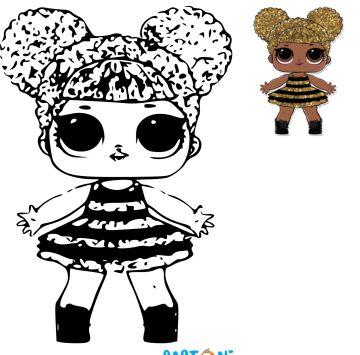 Lol Surprise Queen Bee Da Colorare Cartoni Animati Lol Da