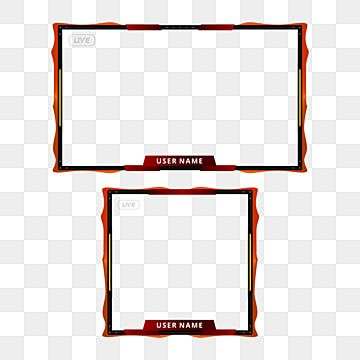 Transparent Red Twitch Border Live Stream Overlay No Text Streaming Overlay Facecam Facebook Stream Png Transparent Image And Clipart For Free Download Overlays Transparent Overlays Clip Art