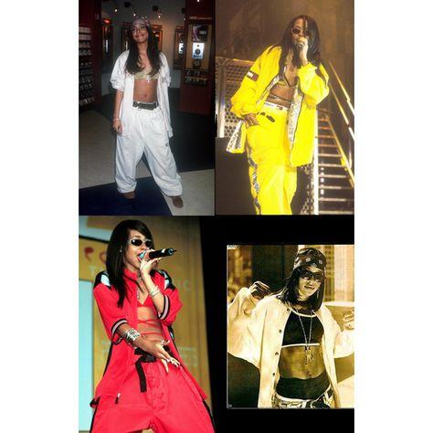 BOTH OF US LIKE THIS aaliyah-style-uniform-baggy-pants-jacket-crop-top-shades-bandana-fashion.