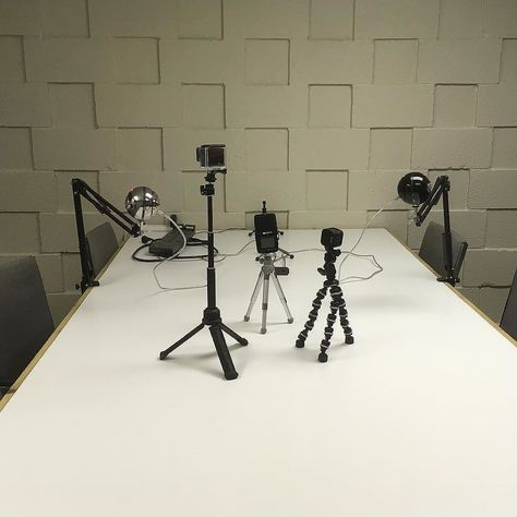 video Our podcast studio is set up...
