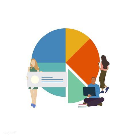 Download Premium Illustration Of Illustrated Social Network Data
