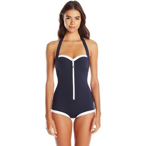Seafolly Womens Block Party Retro One Piece Swimsuit