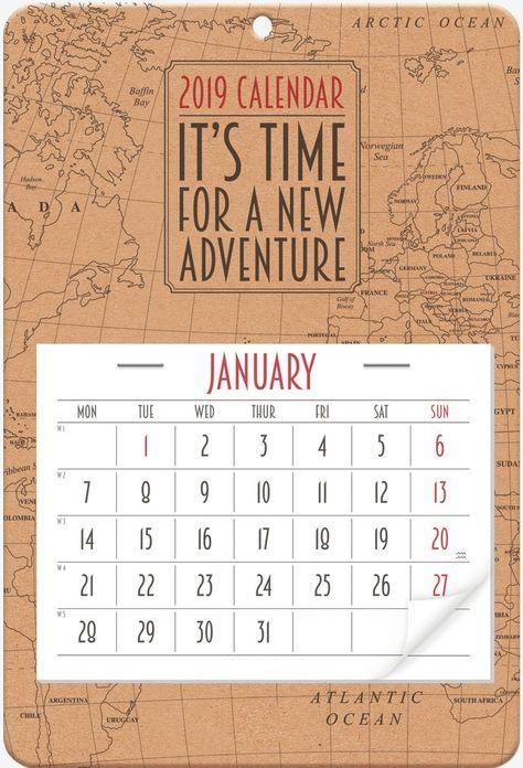 34 best 200+ January 2019 Calendar images on Pinterest in 2018