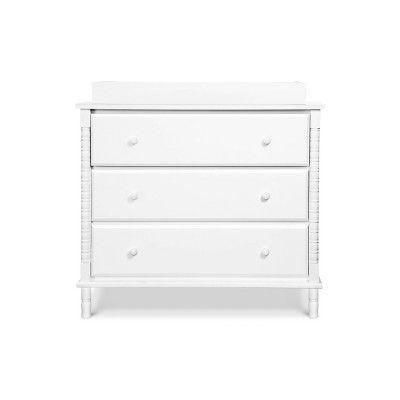 Davinci Jenny Lind Spindle 3 Drawer Dresser White 3 Drawer