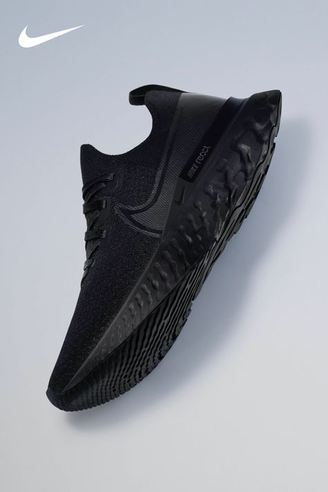 Nike React cushioning is durable and feels responsive mile after mile. The React Infinity Run Flyknit—in a new color—on Nike.com. Running Shoes For Men, Men S Shoes, Girls Shoes, Mens Clothing Brands, Mens Clothing Styles, New T Shirt Design, Casual Sneakers, All Black Sneakers, Black Nike Shoes