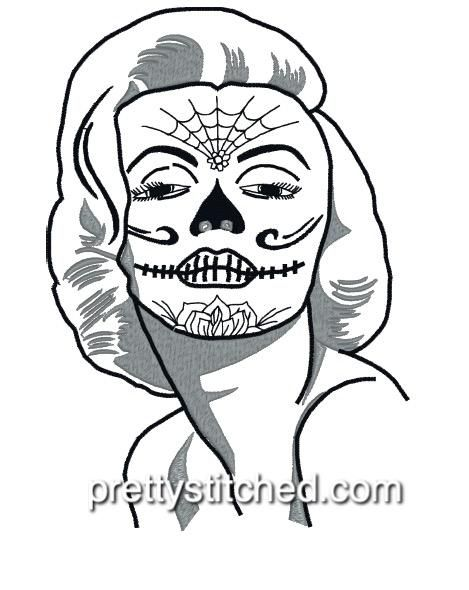 Mm Sugar Skull Skull Coloring Pages Coloring Pictures Girl Drawing Images