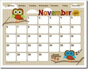 Cute printable blank calendars. Correct link is ...