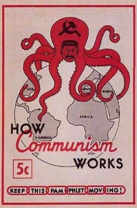 American Anti Communism Propaganda 1945 How Communism Works Propagandaposters Communism Propaganda Anti Communism