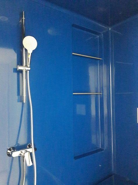 Salle De Bain Prefabriquee Bleue 3 Fonctions Douche Lavabo