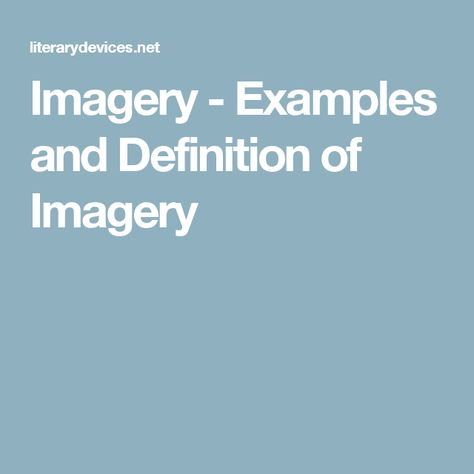 Imagery Examples And Definition Of Imagery Imagery Examples