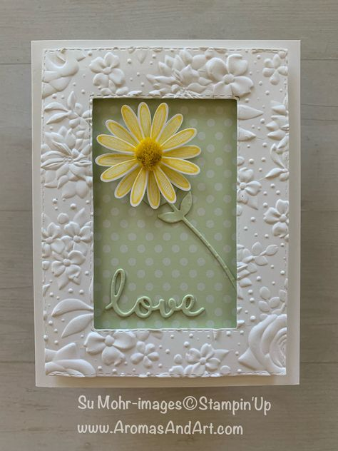 Daisy Lane framed with Country Floral embossing, showing lots of texture.