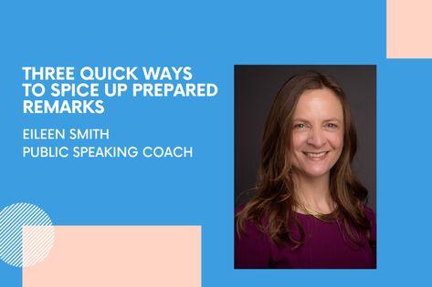 Three Quick Ways to Spice Up Prepared Remarks – DataBird Business Journal