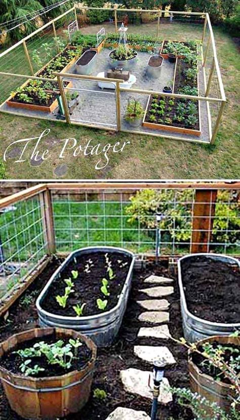 30 Amazing Ideas For Growing A Vegetable Garden In Your Backyard garden layout 30 Amazing Ideas For Growing A Vegetable Garden In Your Backyard Backyard Vegetable Gardens, Veg Garden, Vegetable Garden Design, Outdoor Gardens, Vegetable Ideas, Cedar Garden, Home Garden Design, Raised Vegetable Garden Beds, Raised Garden Bed Design