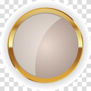 Round White Plate Art Circle Disk Gold Golden Circle Badge Transparent Background Png Clipart Transparent Background Gold Circle Frames Clip Art