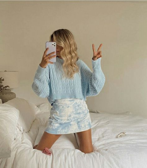 bedroom, blonde, and casual image Cute Casual Outfits, Girly Outfits, Mode Outfits, Fashion Outfits, Vintage Outfits, Grunge Outfits, Spring Outfits, Winter Outfits, Looks Style