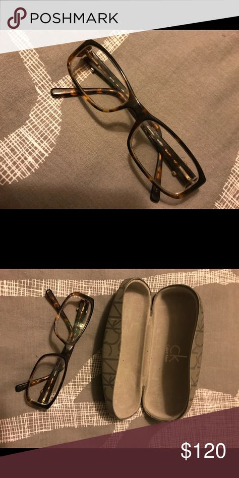 Calvin Klein Glasses This pair of glasses is in excellent condition! The tortoise-shell finish gives you a sophisticated look to any outfit! Calvin Klein Accessories Glasses