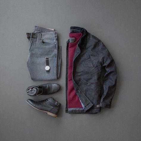 Men's Winter Style // Barn Jacket // Denim & Boots // MyCreativeLook // #mensfashion #menstyle #boots