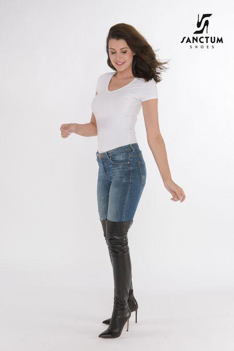90 Ideas De Jeans Botas Largas Botas Largas Ropa Moda