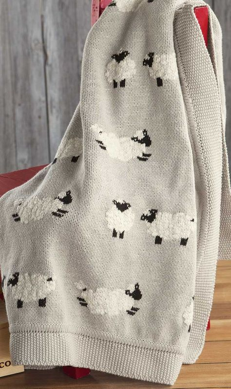 Counting Sheep Heirloom Blanket, Baby & Kids: Olive & Cocoa