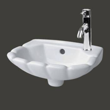 Renovator S Supply Small Hung White Periwinkle Wall Mount Bathroom Sink Zoom2 Wall Mounted Bathroom Sinks Wall Mounted Sink Sink