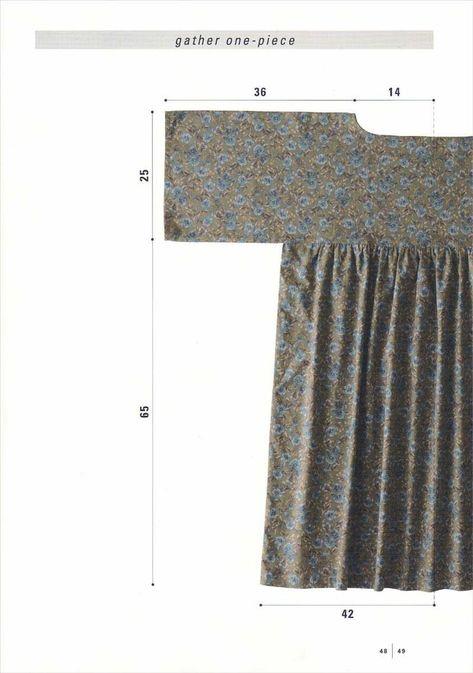 Simple Straight Sewing by Yoshiko Tsukiori (Japanese craft book, Japanese sewing book) Japanese Sewing Patterns, Sewing Patterns Free, Clothing Patterns, Dress Patterns, Apron Patterns, Vogue Patterns, Floral Patterns, Textile Patterns, Vintage Patterns